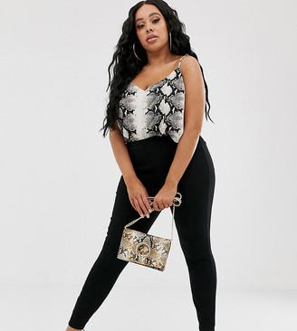 Spanx Plus ankle grazer jean-ish leggings-Black