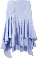 Off-White striped high-low skirt - women - Cotton - XS