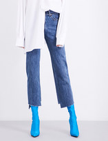 Vetements Levi's Reworked stepped-hem straight high-rise jeans