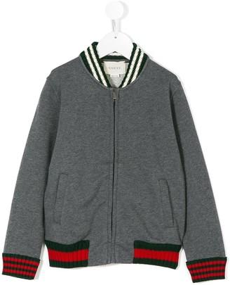 Gucci Kids Web trim bomber jacket