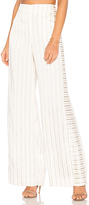 Elizabeth and James Jones Wide Leg Trouser in Ivory. - size 0 (also in 4)