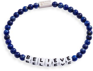 Little Words Project Believe Beaded Stretch Bracelet