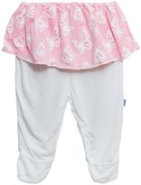 Kickee Pants Footed Pant with Skirt (Baby) - Lotus Butterfly-Preemie