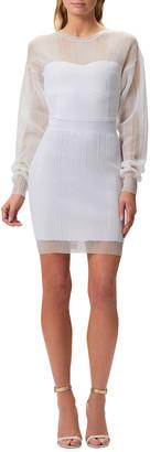 Herve Leger Illusion Body-Con Dress