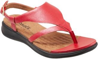 SoftWalk Adjustable Leather Thong Sandals - Temara