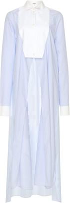 Loewe Paneled Asymmetric Cotton-Poplin Shirt