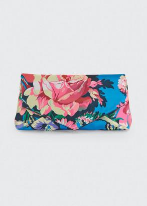 Dries Van Noten Floral-Printed Envelope Clutch Bag