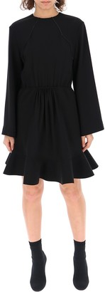 Chloé Ruffled Hem Dress