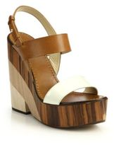 Notion Wooden-Heeled Leather Sandals