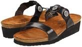 Naot Footwear Marissa (Black Madras Leather) Women's Slide Shoes