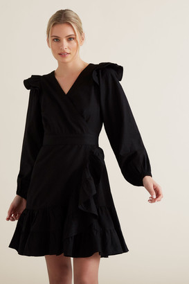 Seed Heritage Wrap Front Frill Dress