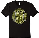 Tennis Words Shirt: Tennis Player Gift T-Shirt