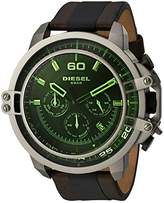 Diesel Men's DZ4407 Deadeye Gunmetal Brown Leather Watch