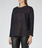 Reiss Finch Metallic Top