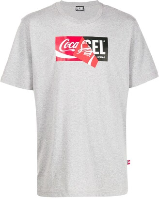 Diesel recycled fabric double logo T-shirt