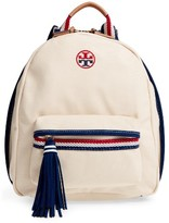 Tory Burch Preppy Canvas Backpack - Beige