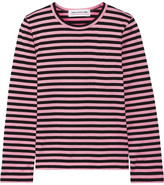Comme des Garcons Striped Cotton-jersey Top - Baby pink