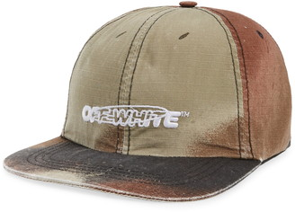 Off-White Pivot Logo Camo Baseball Cap