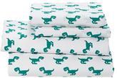 Queen Little Prints Sheet Set (Green Dinosaur)