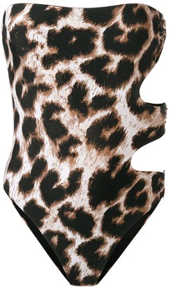Philipp Plein Leopard Print One Piece