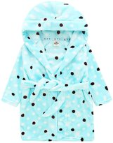 Happy Cherry Children's Robe Kids Cartoon Flannel Bathrobe Polka Dot Sleepwear Size 90