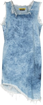 Marques Almeida Acid-Wash Denim Shift Dress