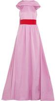 Rosie Assoulin That's A Blow Pop Draped Taffeta Gown - Pink