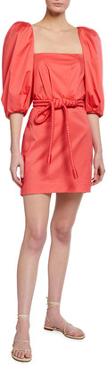 Johanna Ortiz Camelia Rhythm Mini Dress With Belt