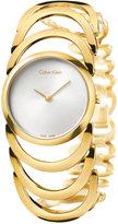 Calvin Klein Women's Swiss Body Gold PVD Stainless Steel Bracelet Watch 30mm K4G23526