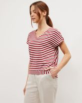 Jaeger Jersey Bold Striped Top