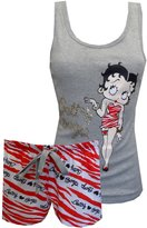 Betty Boop Zebra Bling Shortie Pajama Set for women