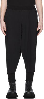Julius Black Cropped Low Crotch Lounge Pants