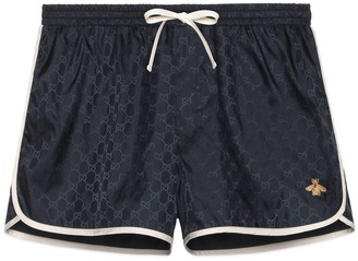 Gucci GG nylon swim short with bee