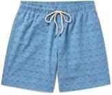 Faherty Mid-length Printed Swim Shorts - Navy