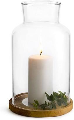 Sagaform Oval Oak Candleholder Small