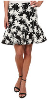 Nicole Miller Palm Medley Ruffle Bottom Skirt