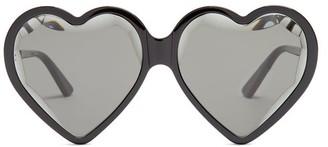 Gucci Heart Acetate Sunglasses - Black Multi