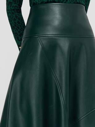 Monsoon Carly Circle PU Skirt - Green
