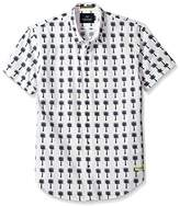 Scotch & Soda Men's Classic Shortsleeve Shirt in Crispy Poplin Quality with Mini