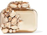 Jimmy Choo Cloud Crystal-embellished Metal Clutch - Gold