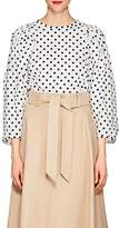 Martin Grant Women's Polka Dot Cotton Puff-Sleeve Blouse