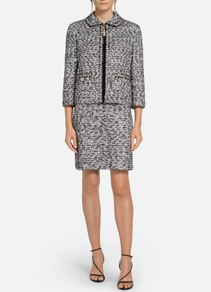 St. John Modern Statement Tweed Knit Jacket