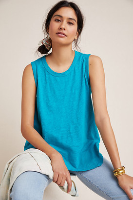 Amber Asymmetrical Tank By Left Of Center in Blue Size S