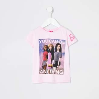 River Island Mini girls Barbie 'be anything' T-shirt
