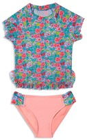 Hula Star Girls' Rose Tango Rash Guard 2-Piece Swimsuit - Little Kid