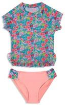 Hula Star Girls' Rose Tango Rash Guard 2-Piece Swimsuit - Sizes 2-6X