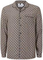 Topman Crepe Geo Print Pyjama Shirt