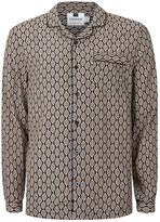Topman Geo Print Pyjama Style Casual Shirt