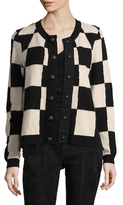 Marc Jacobs Checkered Ribbed Cardigan