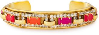 Elizabeth Cole 24-karat Gold-plated Crystal Cuff